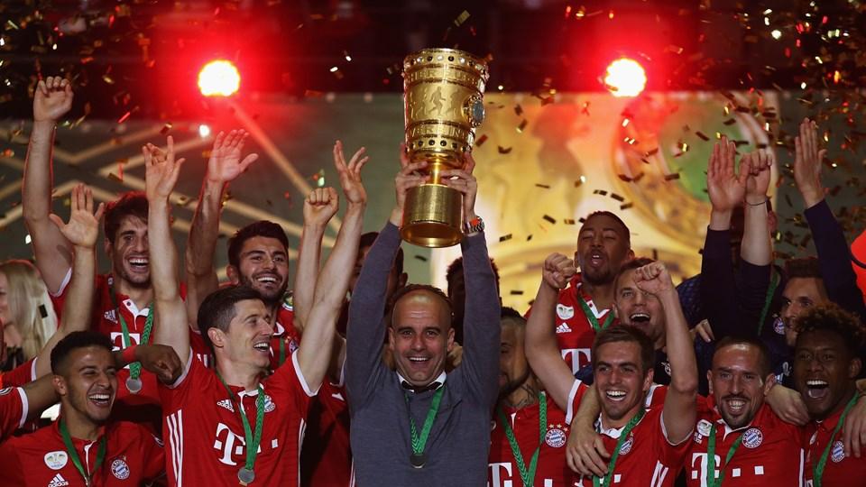 جشن قهرمانی بایرن مونیخ در جام جذفی آلمان در سال 2016